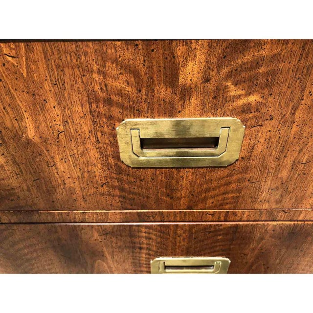 Brown 1970s Campaign 7 Drawer Credenza or Dresser by Henredon For Sale - Image 8 of 13
