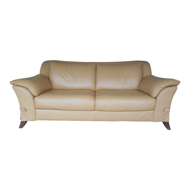 "NATUZZI Italian Leather Sofa 86""W - Image 1 of 9"