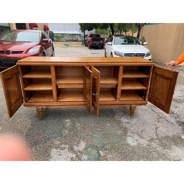 Art Deco 1940s French Solid Walnut Sideboard For Sale - Image 3 of 13