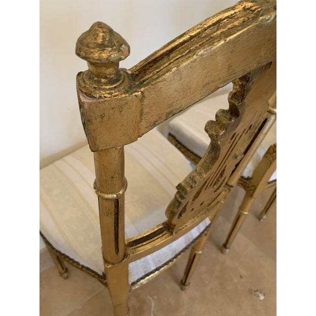 Antique French Neoclassical Louis XVI Lyre Chairs - a Pair For Sale - Image 9 of 13