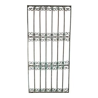 Antique Victorian Verdigris Iron Gate or Garden Fence For Sale
