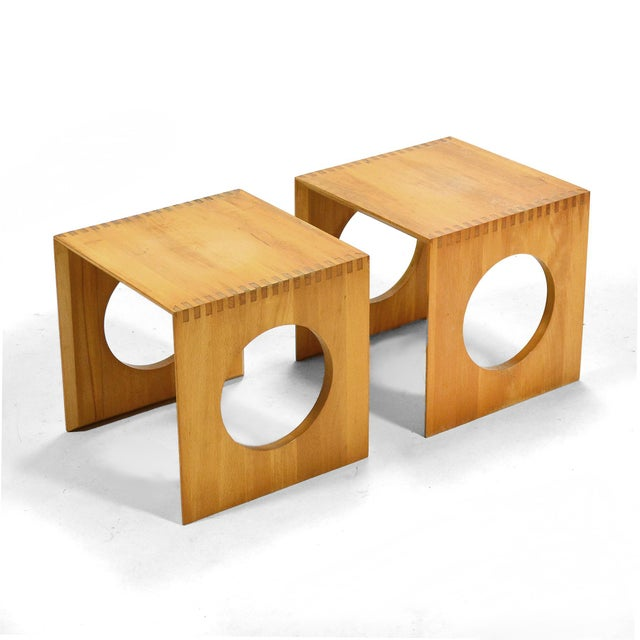 Richard Nissen Jens Quistgaard Cube End Tables by Richard Nissen For Sale - Image 4 of 11