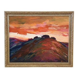 Impressionist Santa Barbara Sunset Painting by Juan Guzman For Sale