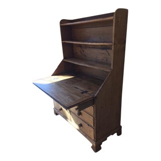 Antique Pine Secretary