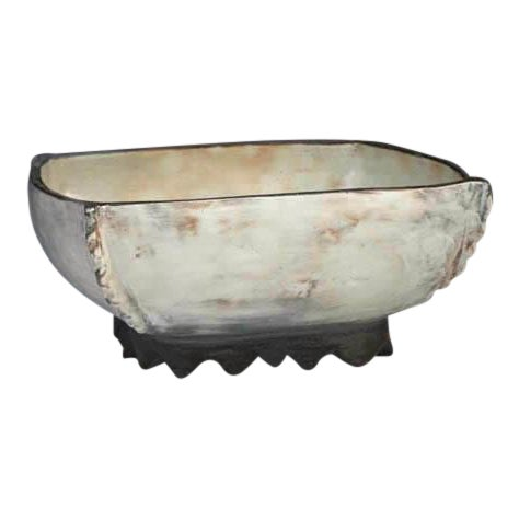Kang Hyo Lee, Puncheong Squared Bowl With Ash Glaze 4, Ca. 2012 For Sale