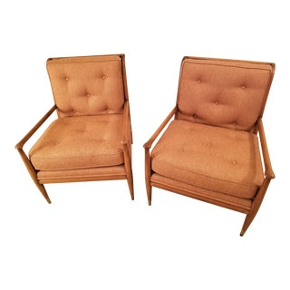 Mid-Century Modern John Stuart Clingman for Widdicomb Lounge Chairs- A Pair For Sale