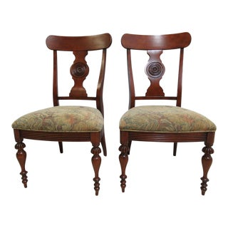 Ethan Allen British Classics Carved Dining Chairs For Sale