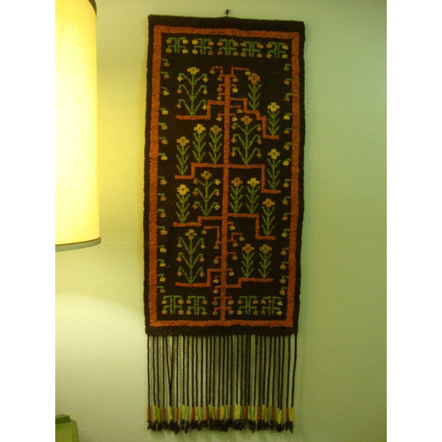 Mid-Century Woven Wool Tapestry - Image 2 of 6