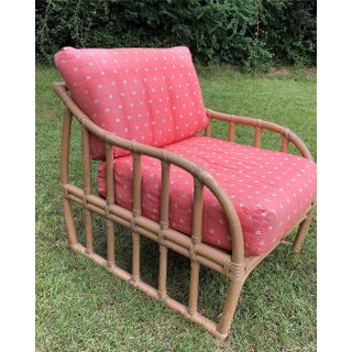 Ficks Reed Rattan Cube Lounge Chair With Custom Cushions Preview