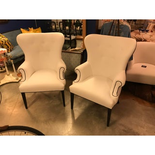 Custom-Designed Button-Back Chairs, a Pair Preview