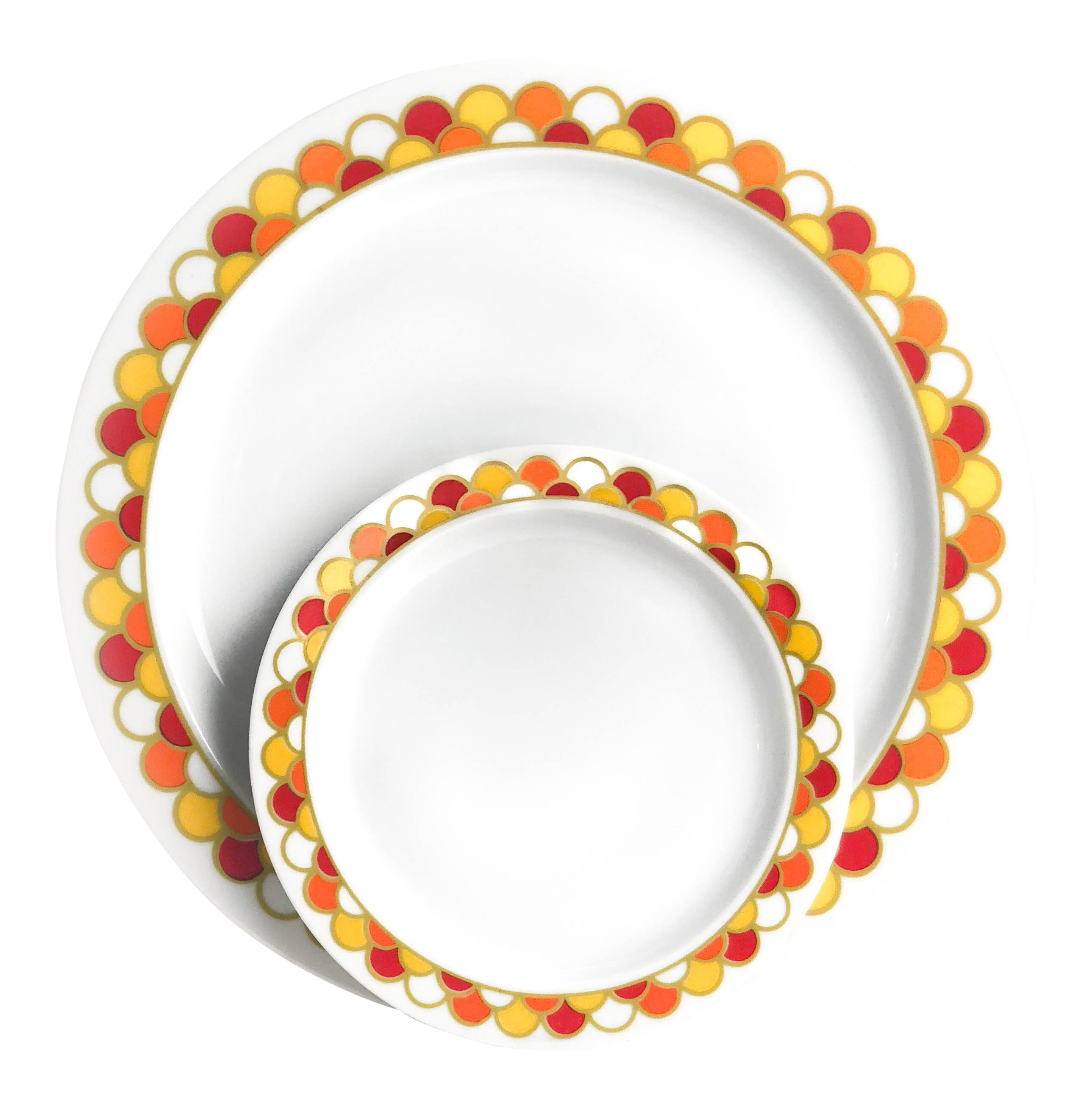 Georges Briard Carousel Pattern Dinner and Bread Plates - Set of 10 - Image 3 of  sc 1 st  Chairish & Georges Briard Carousel Pattern Dinner and Bread Plates - Set of 10 ...