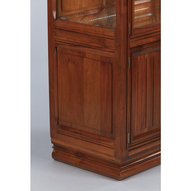 Brown 1930s Art Deco Walnut Vitrine/Display Cabinet For Sale - Image 8 of 13