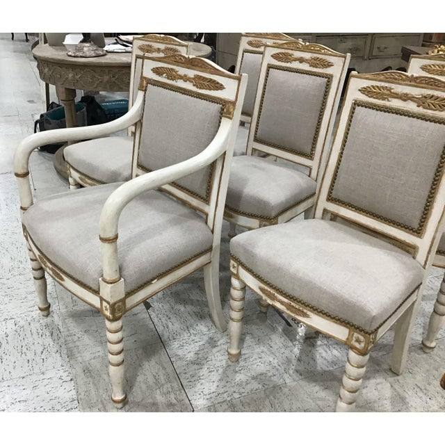 Empire Set of 6 19th Century French Empire Chairs For Sale - Image 3 of 10
