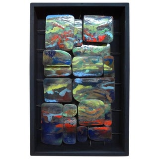 Mid-Century Modern Colorful Enamel Sculpture For Sale