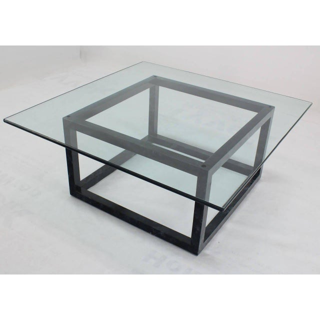 """Nice quality mid-century modern cube shape coffee table (3/4"""" thick)"""