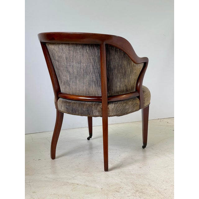 Art Deco Armchair of Mahogany, Circa 1940s For Sale - Image 4 of 13