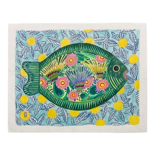 """Fish Platter"" Drawing For Sale"