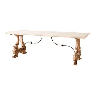 Antique Trestle Table For Sale