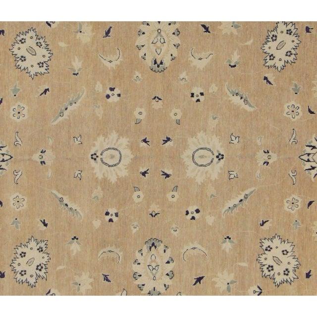 "Rustic Kafkaz Peshawar Angelina Brown & Blue Wool Rug - 10' x 13'9"" For Sale - Image 3 of 7"