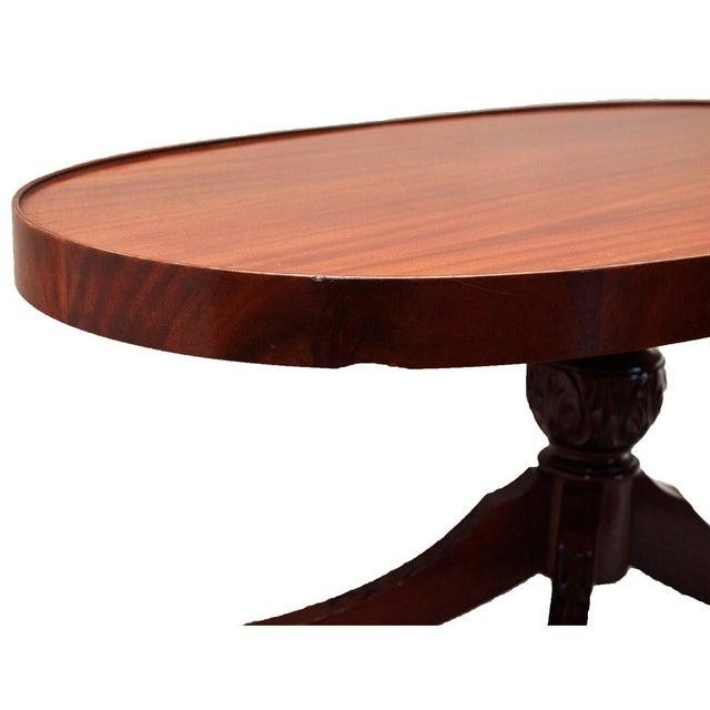 Oval Coffee Table Mahogany: Duncan Phyfe Mahogany Oval Coffee Table C. 1930-1940s