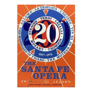 Robert Indiana Santa Fe Opera 20th Anniversary Season, 1976 Edition Silkscreen Poster 1976 For Sale