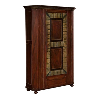 Antique German Single Door Wardrobe / Armoire With Original Paint For Sale
