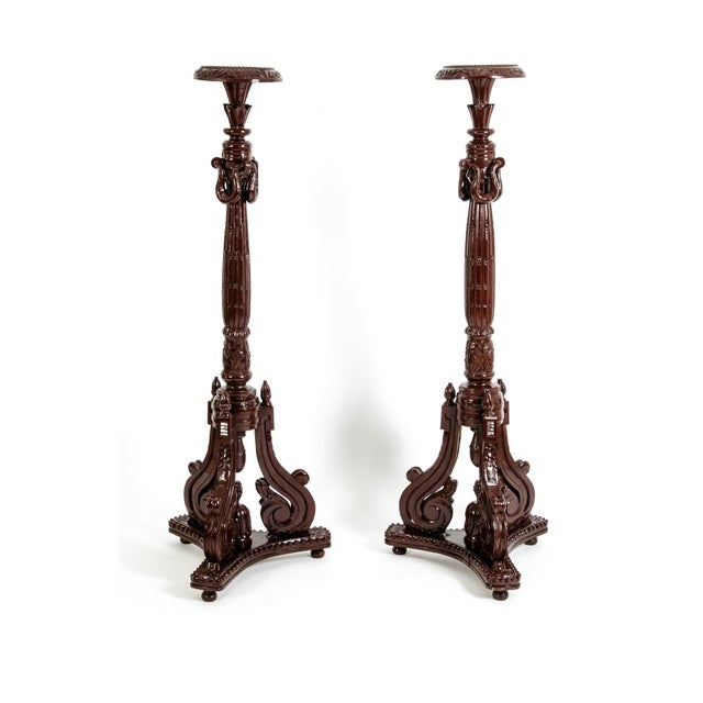 George III Style Torcheres / Pedestals - a Pair For Sale - Image 13 of 13