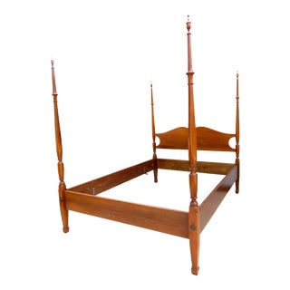 Mid-20th Century Chippendale Biggs Furniture Full Size Mahogany Bedframe