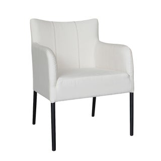 Outdoor White Canvas Dining Chair For Sale