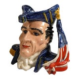 Image of Vintage Napoleon Bonaparte Pottery Bust Cachepot For Sale