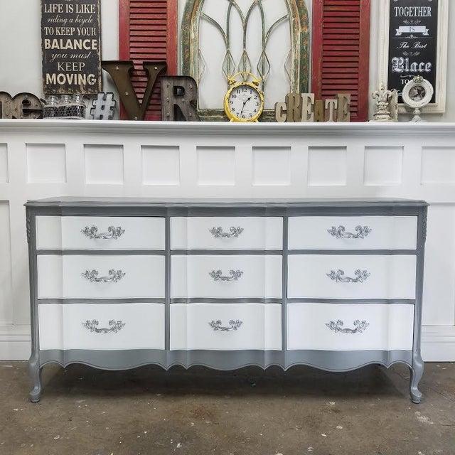 French Platinum Gray Dresser - Image 2 of 5