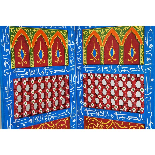 Moroccan Blue 3 Panel Screen - Image 5 of 6