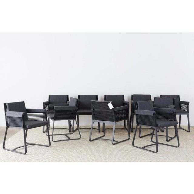 Modern Set of 30 Kettal Landscape Dining Armchairs With Pads For Sale - Image 3 of 13