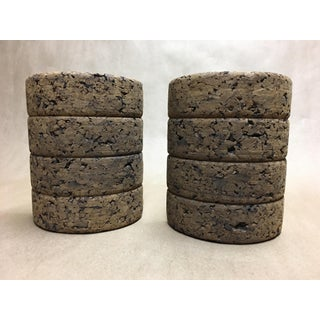 Vintage Boho Chic Cork Bookends - a Pair Preview