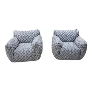 Italian Gervasoni Nuvola Armchairs - a Pair For Sale