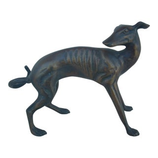 Antique Cast Bronze Dog For Sale