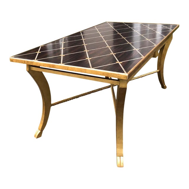 Amy Howard Inlaid Wood Coffee Table For Sale