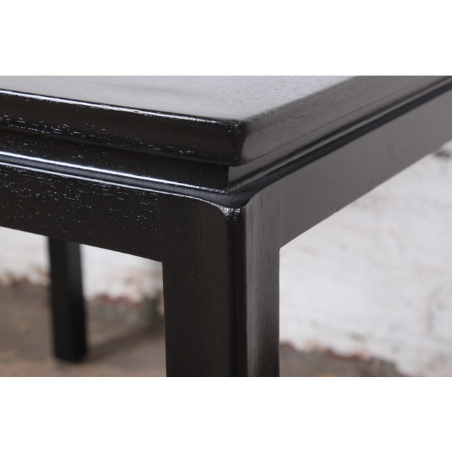 Wood 1950s Edward Wormley for Dunbar Ebonized Mahogany Game Table or Occasional Side Table, Newly Refinished For Sale - Image 7 of 9
