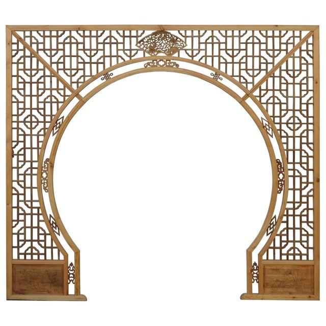 Chinese Arch-Shaped Wooden Panels - Set of 3 - Image 1 of 9