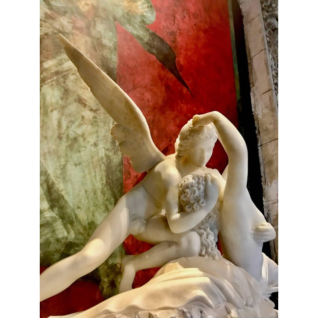 Stone Sculpture of Amor and Psyche For Sale - Image 7 of 11