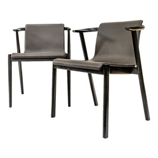 Modern Italian Leather Chairs. Individually For Sale