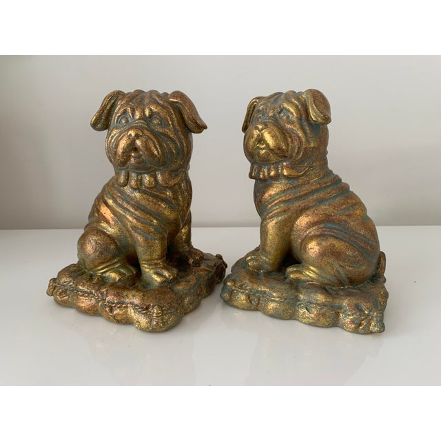 """""""Borghese"""" Gilt Pug Bookends - a Pair For Sale - Image 9 of 9"""