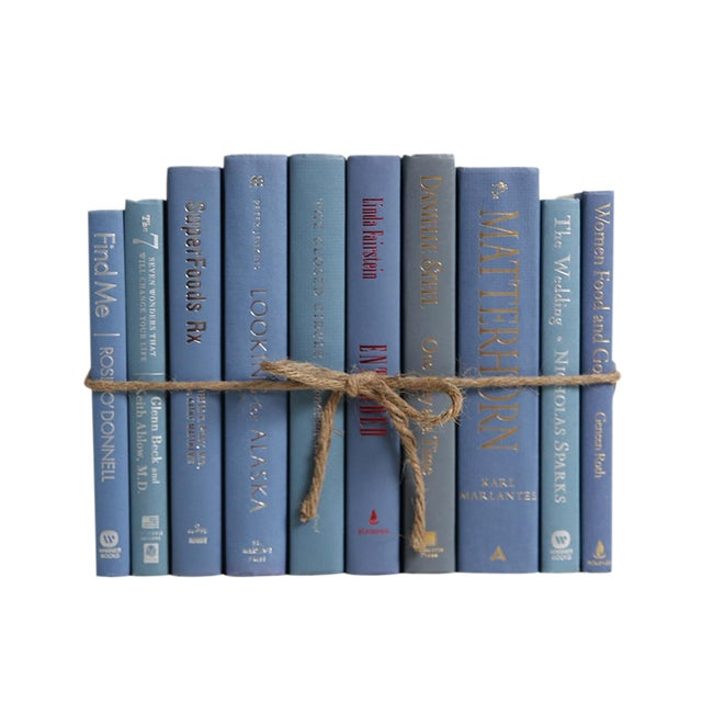 Modern Marlin ColorPak - Decorative Books in Shades of Steel Blue For Sale