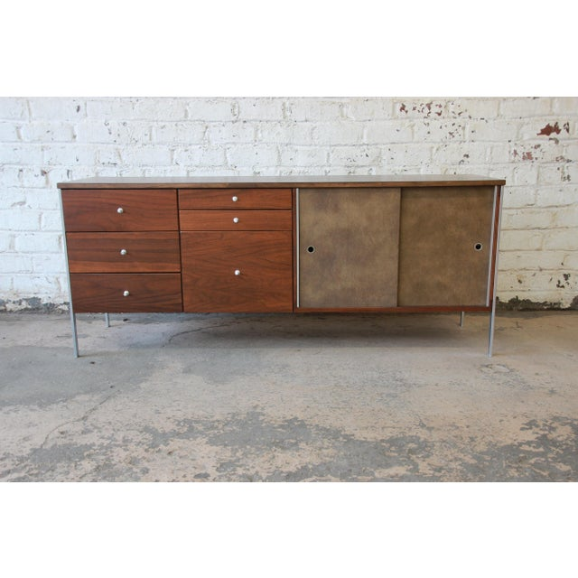 Paul McCobb Area Plan Units Mid-Century Modern Walnut Low Credenza For Sale - Image 13 of 14