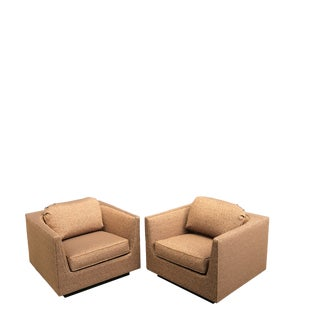 New Upholstery! Finn Anderson Selig Lounge Chairs For Sale