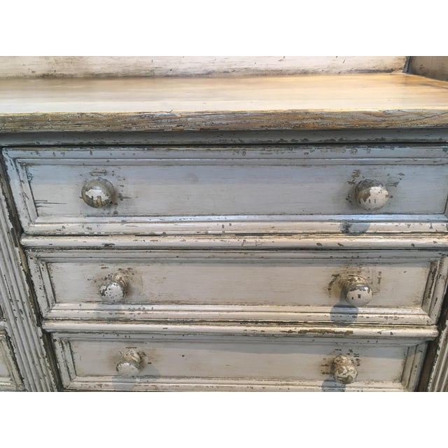 10 Drawer English Antiqued Buffet For Sale In Boston - Image 6 of 8