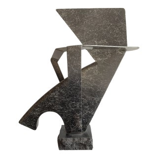 Sam Radoff Painted Steel and Granite Abstract Sculpture For Sale