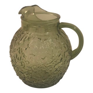 1960s Vintage Anchor Hocking Lido Milano Pitcher For Sale