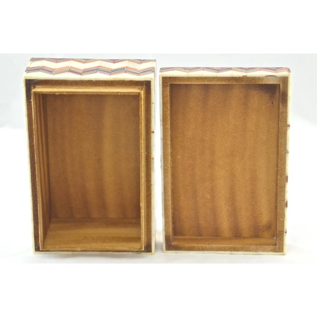 Bone Inlaid Bone Chevron Box For Sale - Image 7 of 8