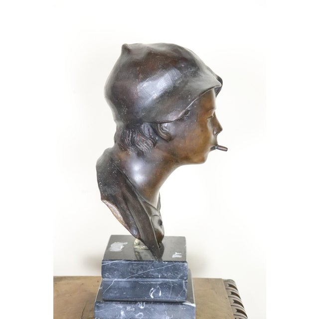 19th Century Italian Sculpture in Bronze Young Boy Signed G. De Martino For Sale - Image 6 of 9